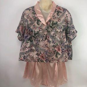 Victoria Secret Floral 2 Piece Shorty Pajamas New